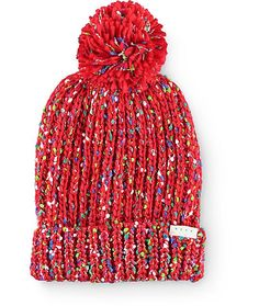 Make your outfit pop with the colorful style of this pom beanie made with a  cuffed fefb263b18fb