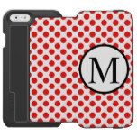 Simple Monogram with Red Polka Dots iPhone 6/6s Wallet Case