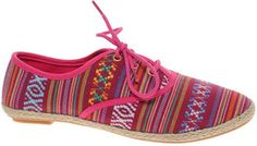 ShopStyle: ASOS MIAMI Lace Up Shoes With Aztec Print
