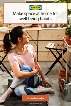 Here are some simple ways to make space for wellness habits that will help you relax and feel refreshed. And they require little space and even less equipment, so you can do them from the comfort of your home! Ikea Home, Move Your Body, Good Habits, Energy Level, Wellness Tips, Simple Way, Storage Solutions, Small Spaces, Relax