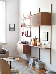 Give your spaces the royal treatment. The authentic Royal System Shelving returns to DWR.