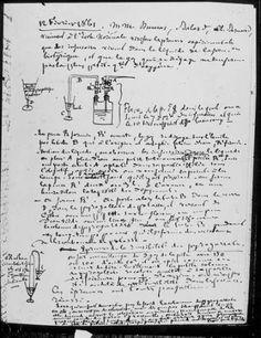 Louis Pasteur. Notas de laboratorio.