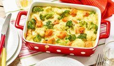 Für die ganze Familie! Probiere das Süßkartoffelgratin mit Broccoli und Blumenkohl mit Curry. Das Rezept gibt's bei MAGGI.