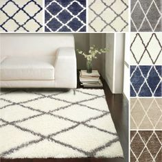 I have used this in the white grey it's very pretty and super comfortable. nuLOOM Moroccan Trellis Shag Rug overstock