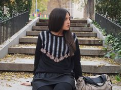 Black sweatshirt      http://www.trendypaperdoll.com/2012/12/black-sweatshirt.html #ethnic #sweater #Zara