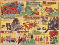 Ad for ABC's Saturday morning shows, 1970 Old School Cartoons, Retro Cartoons, Old Cartoons, Cartoon Tv, Classic Cartoons, 1970s Tv Shows, Old Tv Shows, Kids Shows, Gi Joe