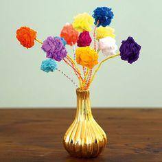 Papierblumen aus Min