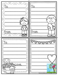 Cute and free letter template for valentines day in kindergarten print out your own valentines just print on colored cardstock spiritdancerdesigns Images