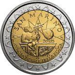 2 euro World Year of Physics 2005 - 2005 - Series: Commemorative 2 euro coins - San Marino