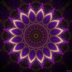 Precioso mandala de tonos violeta.
