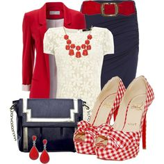"""""""Gingham Pumps"""" by justbeccuz on Polyvore"""