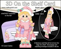 3D On the Shelf Card Kit Little Christmas Girl Cathy on Craftsuprint - View Now!
