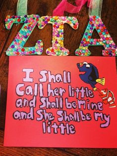 ZTA big/little crafting ❤