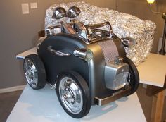 """Graham Schodda created this, the """"Toaster Roadster"""" for a Seattle art show featuring recycled materials."""