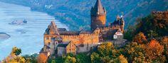 Castelos ao longo do Reno. Basel á Amsterdam cruzeiro de 08 dias... É um cruzeiro pelo rio Reno. Já imaginou?
