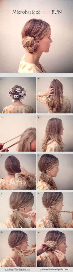 side-swept low bun + micro braids = one seriously gorgeous hairstyle
