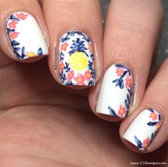 Today's Nails are super fun, and perfect for any Rifle Paper Co lover. Who's ready for Pineapples, and flowers! Be sure to check out the nails and let me know what you think!