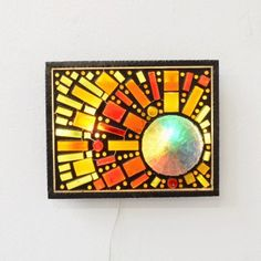 Located using retrostart.com > French glass light sculpture Wall Lamp by Unknown Designer for Unknown Manufacturer