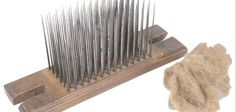Make larger spinning combs by adding more rows of nails.
