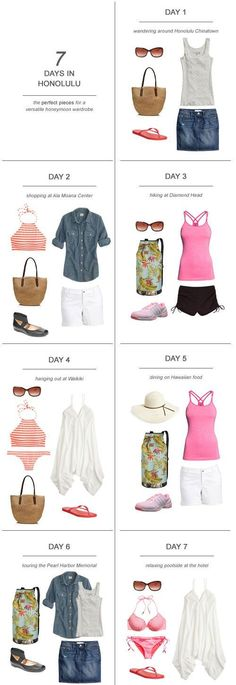 7 Days in Honolulu : The Perfect Pieces for a Versatile Honeymoon Wardrobe #hawaiianvacationoutfits