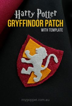 Harry Potter Gryffindor Crest Patch with Template - DIY Harry Potter Gryffindor no-sew Patch – .au -DIY Harry Potter Gryffindor Crest Patch with Template - DIY Harry Potter Gryffindor no-sew Patch – . Harry Potter Gryffindor, Harry Potter Patch, Cumpleaños Harry Potter, Harry Potter Cosplay, Harry Potter Outfits, Harry Potter Birthday, Harry Potter Characters, Harry Potter Crafts Diy, Harry Potter Kids Costume