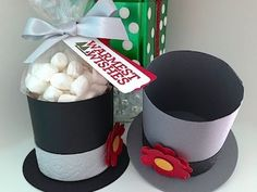 Frosty the Snowman Hat Box - video tutorial - www.SimplySimpleStamping.com