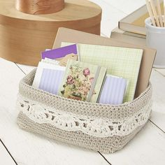 Ravelry: Lacy Baskets pattern by Willow Yarns Design Team