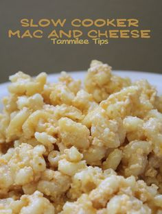 Slow Cooker Mac and Cheese Recipe via @tammileetips