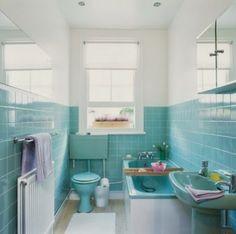 Banheiros e lavabos com ares retrô