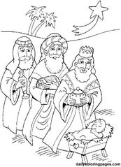 Jesus Christ Navity And Three Wise Men Advent Coloring Pages Nativity Coloring Pages, Jesus Coloring Pages, Coloring Pages To Print, Free Coloring Pages, Coloring Books, Kids Coloring, Printable Coloring, Adult Coloring, King Picture