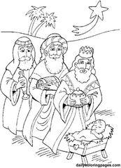Jesus Christ Navity And Three Wise Men Advent Coloring Pages Nativity Coloring Pages, Jesus Coloring Pages, Christmas Coloring Pages, Coloring Pages To Print, Free Coloring Pages, Coloring Books, Coloring Sheets, Kids Coloring, Printable Coloring