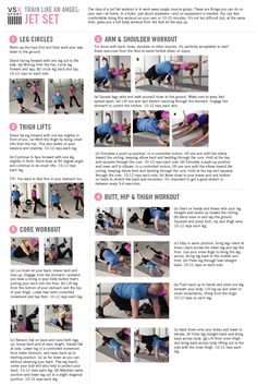 Victoria's Secret Train Like an Angel workout - Jet Set Workout accompanying…