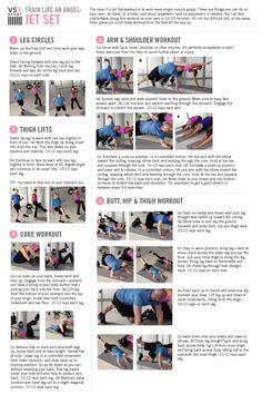 Victoria's Secret Train Like an Angel workout - Jet Set Workout accompanying video: http://www.youtube.com/watch?v=PdunDAPWaUM