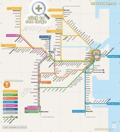 Sydney train map for your reference. Its best to travel in Sydney via trains. Know the important connecting stations & other details from train map Sydney. Sydney Map, Sydney Metro, Sydney City, Transport Map, Public Transport, Ligne Bus, Trains, Train Map, Metro Map