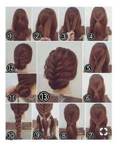 Flechtfrisuren - braided Hair - Haare Zopf Hochsteckfrisur, lange Haare Another activity that's popu Party Hairstyles For Long Hair, Up Hairstyles, Hairstyle Ideas, Hairdos, Easy Updos For Long Hair, Updos For Medium Length Hair Tutorial, Step By Step Hairstyles, Famous Hairstyles, Updos Hairstyle