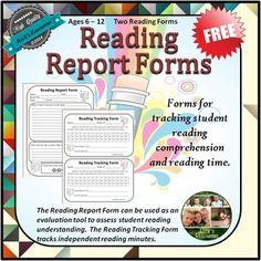Reading Forms - FREE These forms are for tracking student reading comprehension after completing a book and for tracking student minutes read. The Reading Report From can be used as an evaluation tool to assess reading understanding. The Reading Tracking Form tracks independent reading minutes.