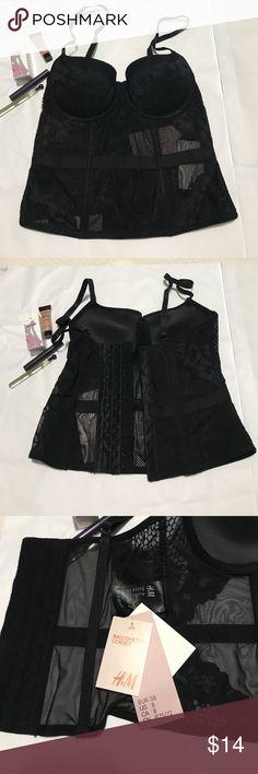 Brand new corset style bra Very sexy corset style bra with three hook closure H&M Intimates & Sleepwear Bras