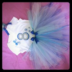 ELSA  inspired Custom birthday Tutu Outfit WWW.FIRSTCOMESLOVEXOXO.COM  Elsa inspired birthday tutu outfit including shirt, tutu and matching hung headband or hairbow Dresses