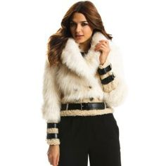 Armani Exchange Double Breasted Fashion Fur Coat (Apparel)  http://www.picter.org/?p=B005ONG8PO