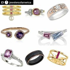 #Repost @jewelersofamerica  Today's Style File on @nationaljeweler previews the hottest pieces to look for at Las Vegas jewelry week! Link in bio  These rings are from a selection of our JA Members @amyglaswand @ronafisherjewelry @phyllisbergman_for_mercuryring #ColorMerchants @ljwestdiamonds @kbrunini @lashbrookdesigns @stullerinc #buyjewelry #rings #vegas #preview by stullerinc