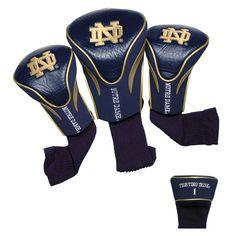 Team Golf - NCAA 3 Pack Contour Head Cover, University of Notre Dame Fighting Irish
