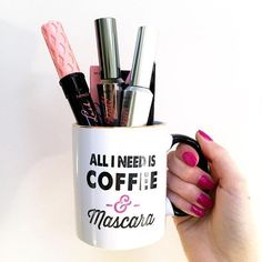 All we need is coffee and roller lash, they're real!,  and they're real tinted eyelash primer!!