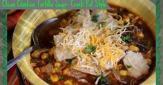 Clean Chicken Tortilla Soup- Crock Pot Style!           Ingredients:   1 tsp ground cumin   1/2 tsp sea salt (I use Himalayan)   2 cups cho...