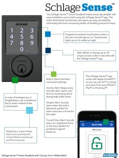 #CurbAppealContest The Schlage Sense™ Smart Deadbolt does more than just unlock your door…
