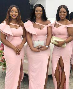 Pink Mermaid Bridesmaid Dresses for Wedding Party – NYDress African Bridesmaid Dresses, Mermaid Bridesmaid Dresses, African Lace Dresses, Latest African Fashion Dresses, African Dresses For Women, Wedding Dresses, Wedding Hijab, Wedding Attire, Lace Dress Styles