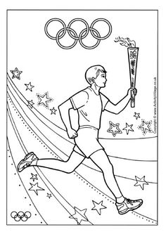 Olympic Torch Relay Colouring Page