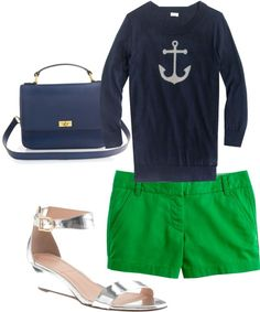 """Spring Anchor"" by caseylovesjcrew ❤ liked on Polyvore"
