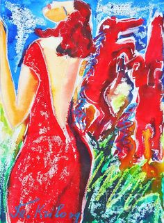 Framed Prints, Canvas Prints, Art Studies, Contemporary Artists, Watercolors, Greeting Cards, Tapestry, Artwork, Red