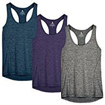 icyzone Activewear Running Workouts Clothes Yoga Racerback Tank Tops for Women (XXL, Charcoal/Red Bud/Pink) Running Tank Tops, Yoga Tank Tops, Workout Tank Tops, Athletic Tank Tops, Yoga Fitness, Fitness Tanks, Fitness Goals, Baggy, Thing 1