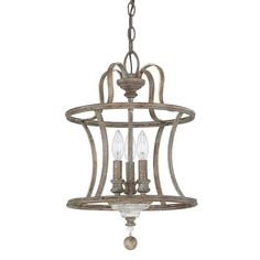 Armande 3-Light Farmhouse Pendant Light - The right lighting can transform your space, and with an antiqued pendant like this one it can add an air of French country charm. Highlighting 3 LED candelabra-inspired lights, its chic curved fra…